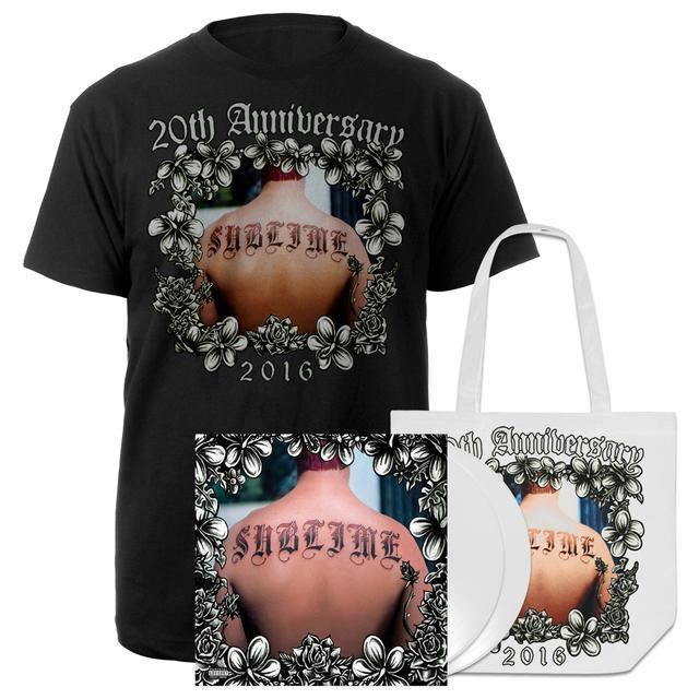 Sublime 20th Anniversary White Vinyl, Tote Bag & Tee Commemorative