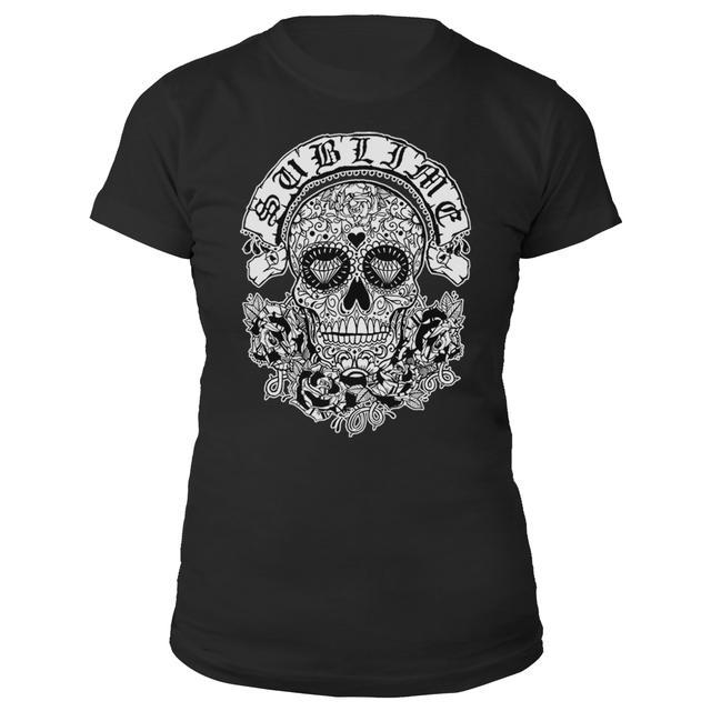 Sublime Sugar Skull Ladies Tee