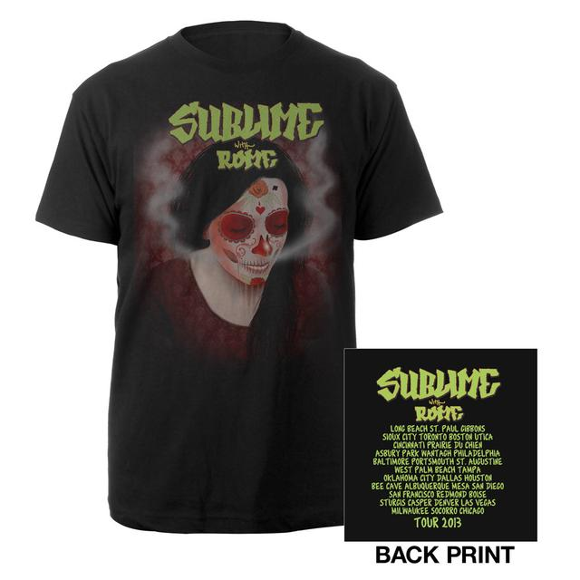 Sublime with Rome Tour Skull Girl Shirt