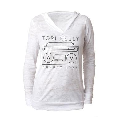 Tori Kelly Burnout V-Neck Hoody
