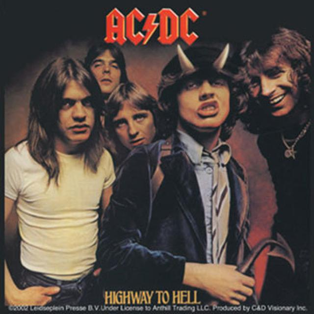 AC/DC Highway To Hell Square Sticker