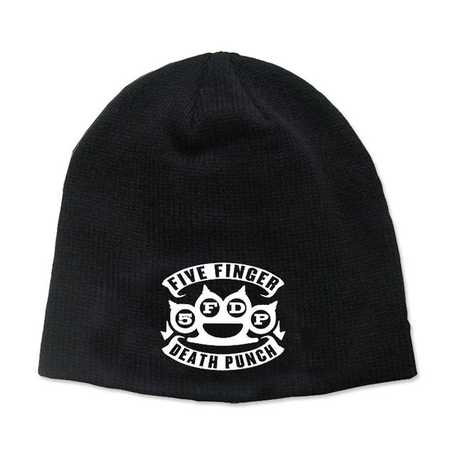 Five Finger Death Punch Knuckles Beanie - White Logo