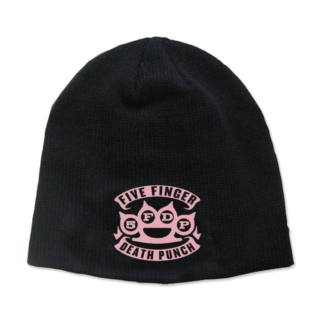 Five Finger Death Punch Knuckles Beanie - Pink Logo