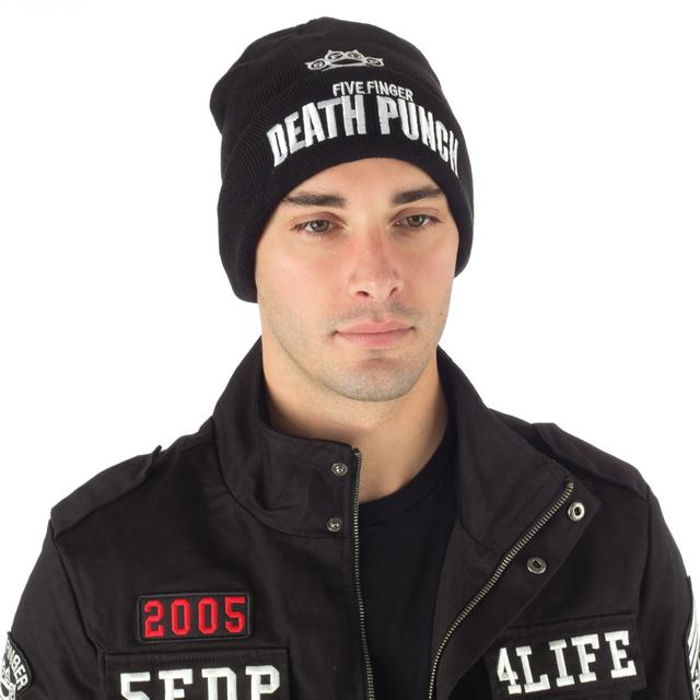 Five Finger Death Punch Knuckle Logo Fold Beanie