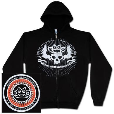 Five Finger Death Punch Knuckle Skull Zip Hoodie
