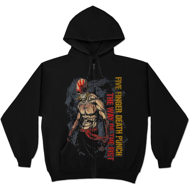 Five Finger Death Punch Way Of The Fist Ninja Zip Hoodie