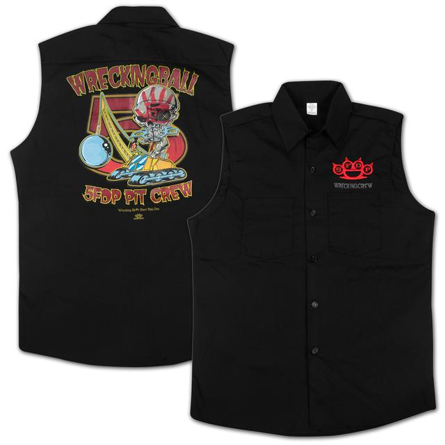 Five Finger Death Punch Wrecking Crew Sleeveless Mens Work Shirt