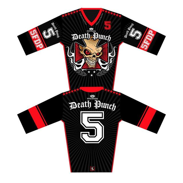 Five Finger Death Punch 5 Finger Death Punch Iron Cross Moto Jersey