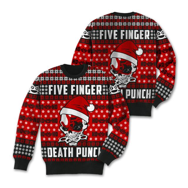 Five Finger Death Punch Knucklehead Santa Ugly Xmas Sweater