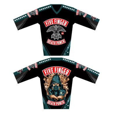 Five Finger Death Punch Boots & Blood Moto Jersey