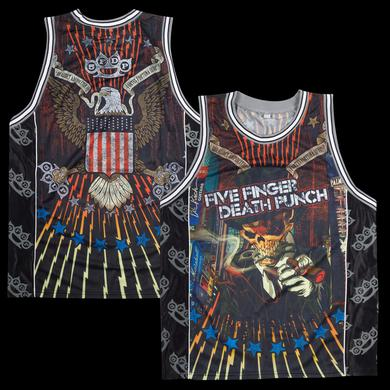 Five Finger Death Punch All Over Print Basketball Jersey