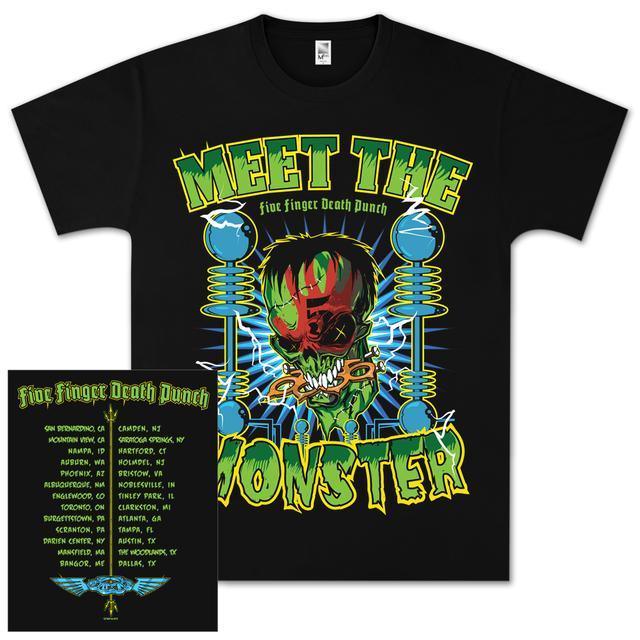 Five Finger Death Punch Meet the Monster Tour T-Shirt
