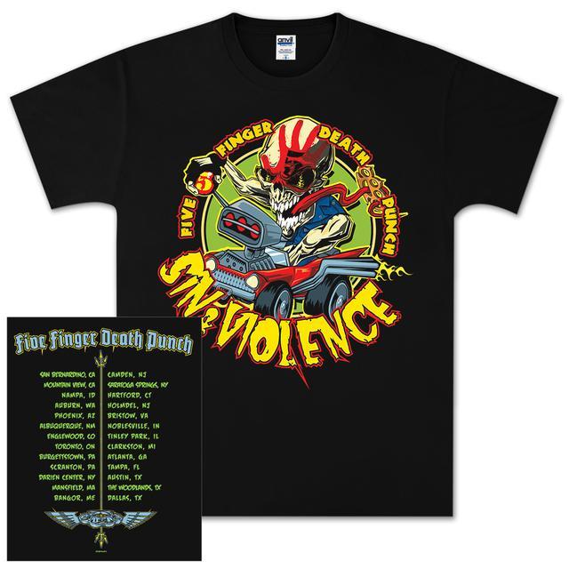Five Finger Death Punch Sin & Violence Tour T-Shirt