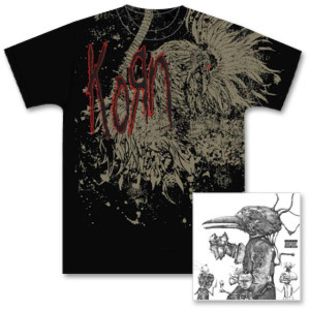 Deluxe Edition Untitled KoRn CD/DVD and Exclusive Vulture T-Shirt Bundle