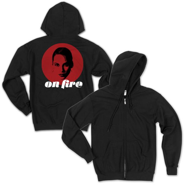 Alicia Keys On Fire Zip Hoodie