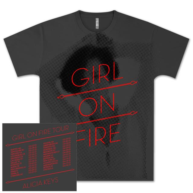 Alicia Keys Girl On Fire Tour T-Shirt