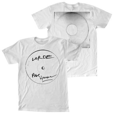 Lorde PURE Heroine Record White T-Shirt