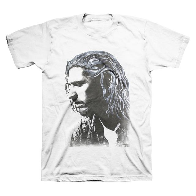 Hozier Andrew Face White T-Shirt