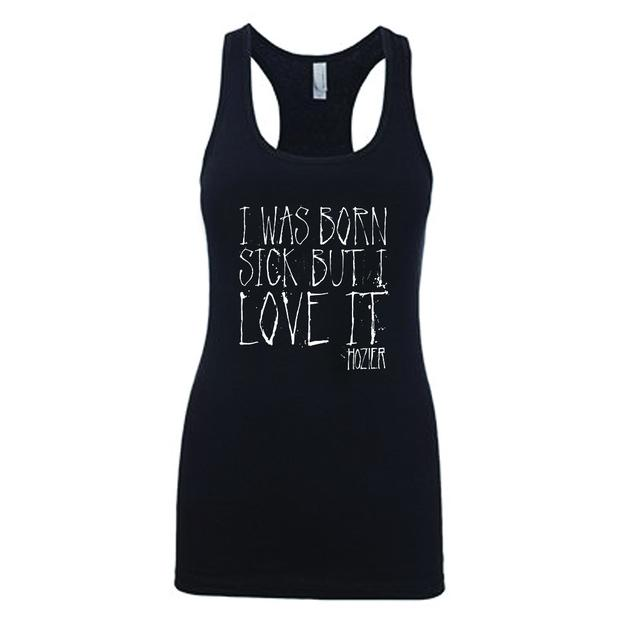 Hozier Born Sick Lyric Black Tank