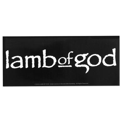 Lamb of God Logo Decal