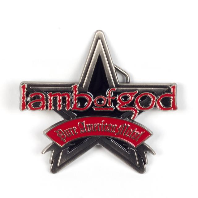 Lamb of God Metal Star Belt Buckle