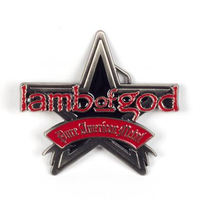 Lamb of God Metal Star Belt Buckle
