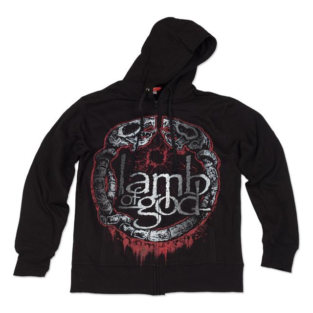 Lamb of God Rat Circle Hoodie