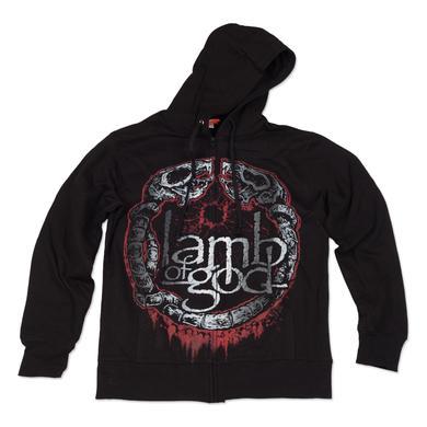 Lamb of God Rat Circle Hoodie