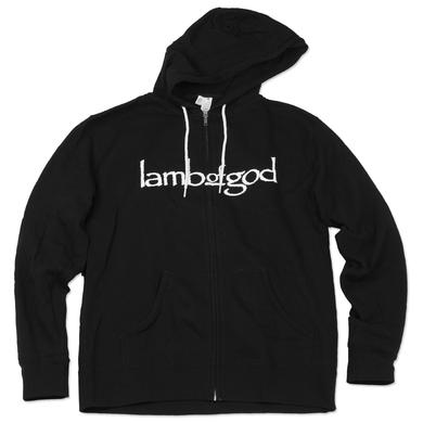 Lamb of God Blue Sturm Black Zip Hoodie