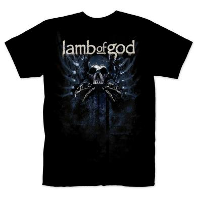 Lamb of God Blue Silver on Black T-Shirt