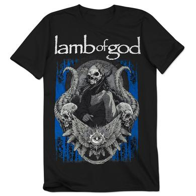 Lamb of God Blue Sturm Black T-Shirt