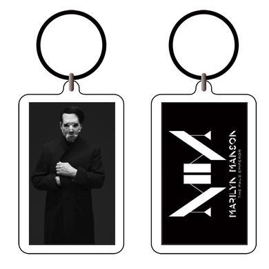 Marilyn Manson Cloaked Acrylic Keychain