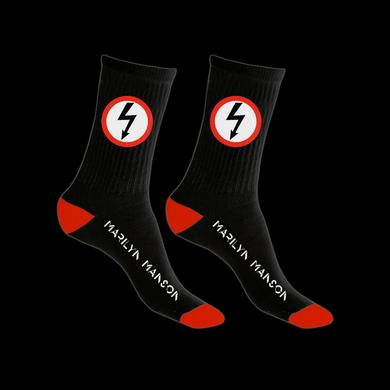 Marilyn Manson Bolt Logo Knit Socks