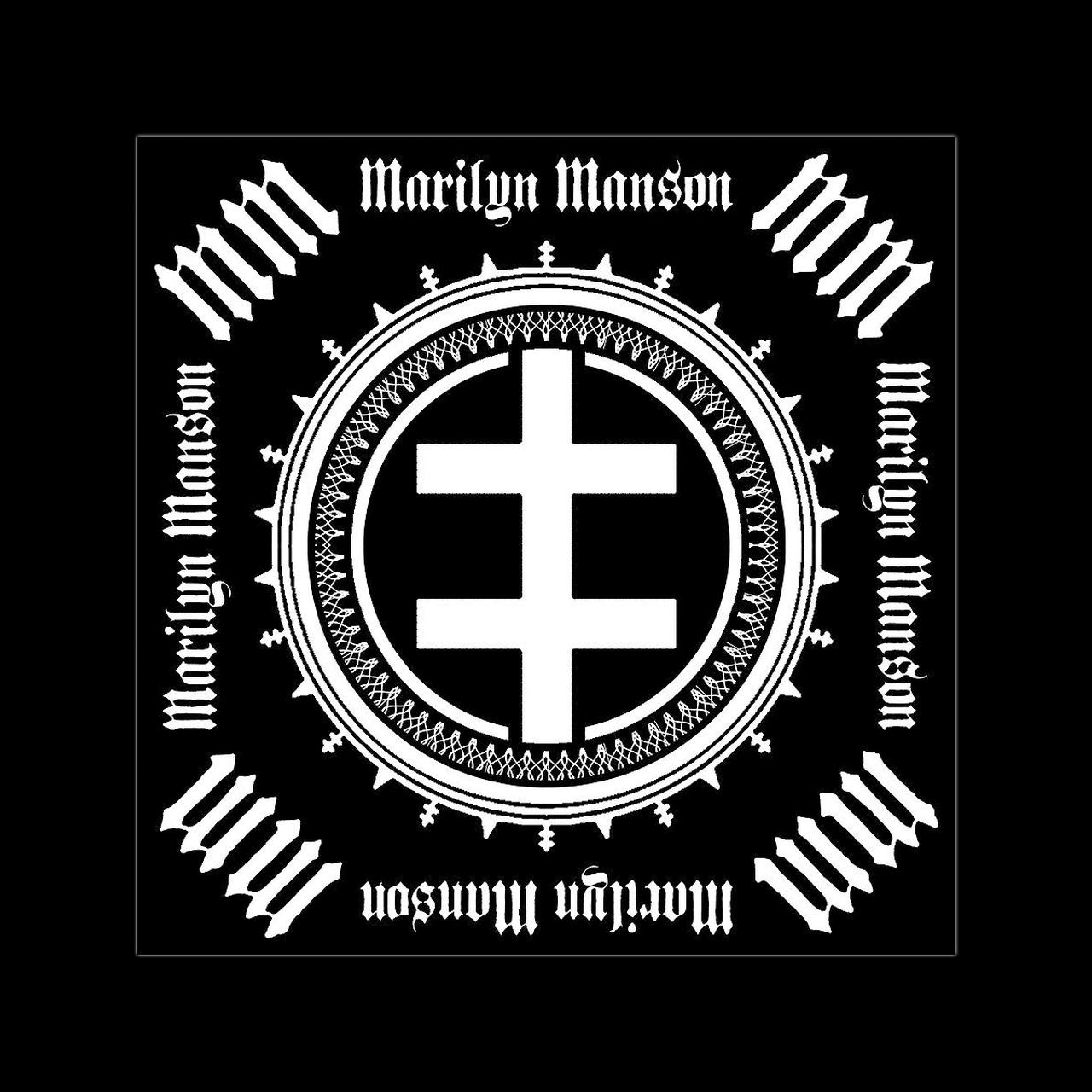 Marilyn Manson Double Cross Bandana