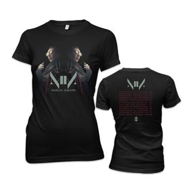 Marilyn Manson Double Vision Junior 2015 Summer Tour T-Shirt
