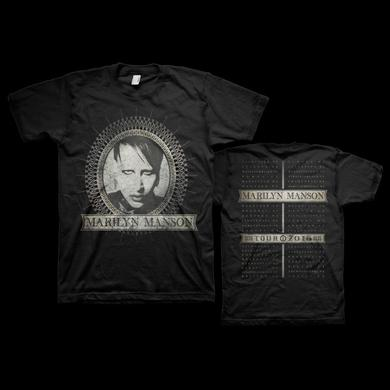 Marilyn Manson Dollar Bill Dateback 2016 Tee