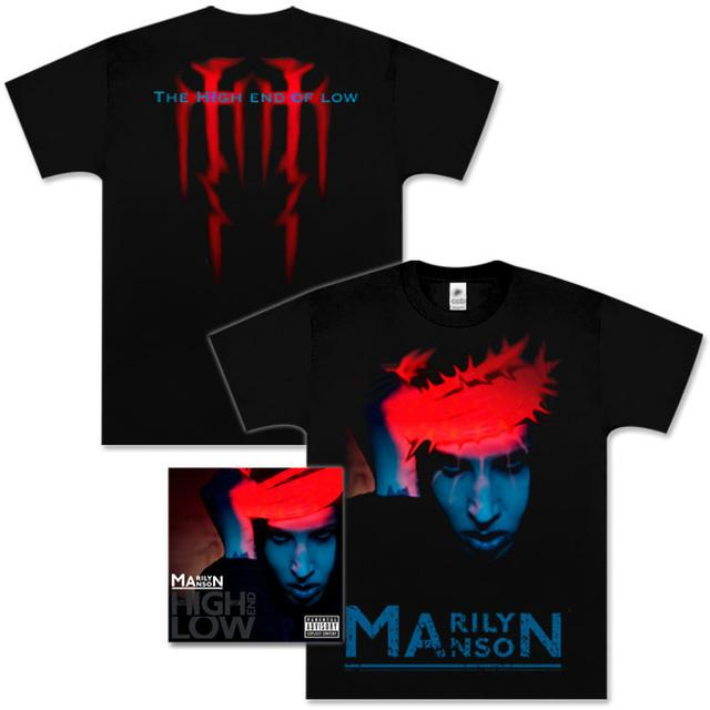 Marilyn Manson - The High End Of Low Deluxe CD and Neon Christ T-Shirt Bundle