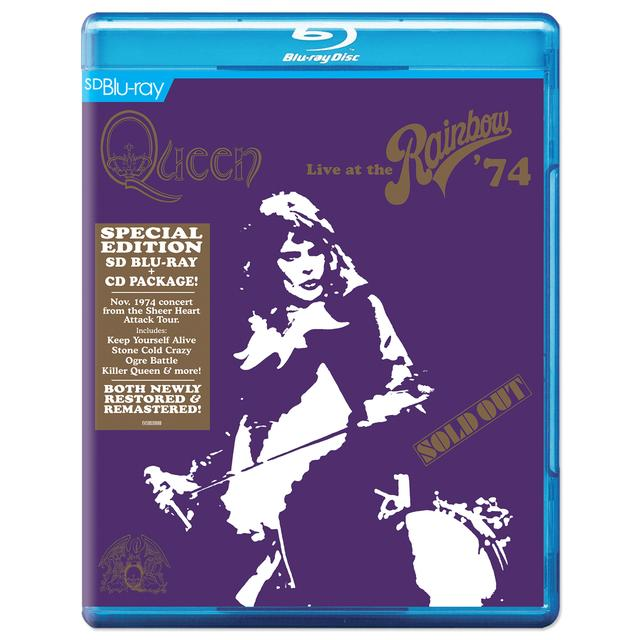 Queen: Live At The Rainbow '74 Special Edition SD Blu-ray & CD Package