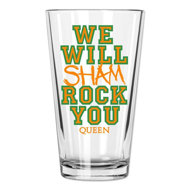Queen We Will Shamrock You Pint Glass