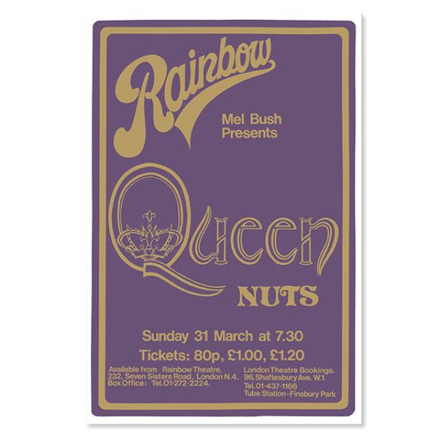 Queen: Live At The Rainbow Limited Edition Silk Screen Print