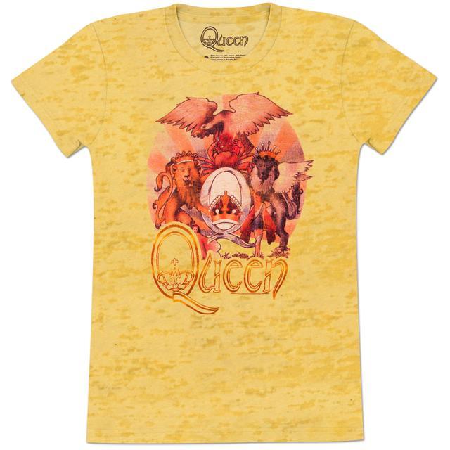 Queen Sunset Crest Girls' Fitted T-Shirt
