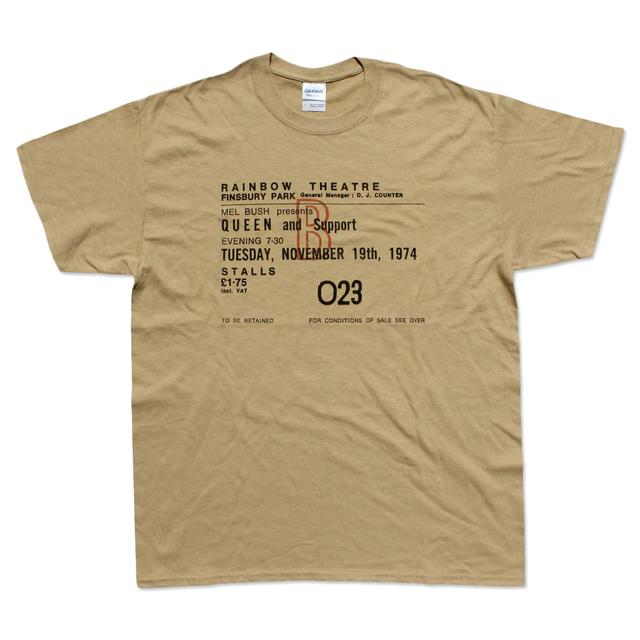 Queen: Live At The Rainbow '74 November Ticket T-Shirt