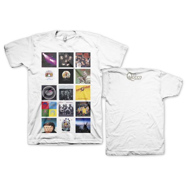Queen Studio Album Stacked T-Shirt