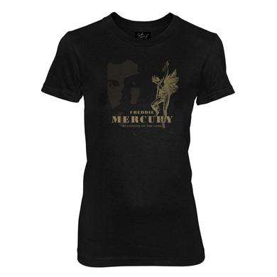 Queen Messenger of the Gods Black Fitted T-Shirt