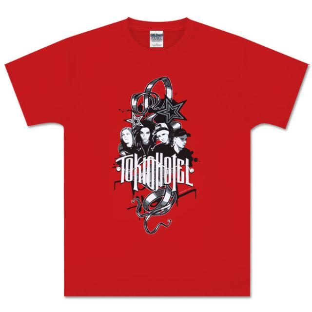 Tokio Hotel Rock Art Red T-Shirt