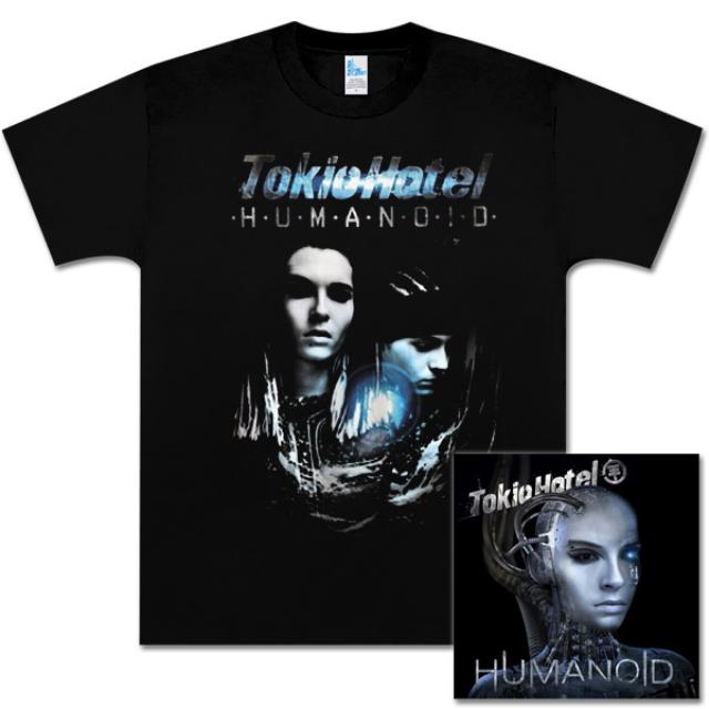 Tokio Hotel Bundle with Humanoid Deluxe CD and Men's T-Shirt