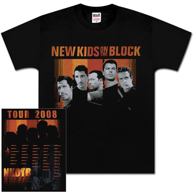 New Kids on the Block Black Album T-Shirt with Dateback