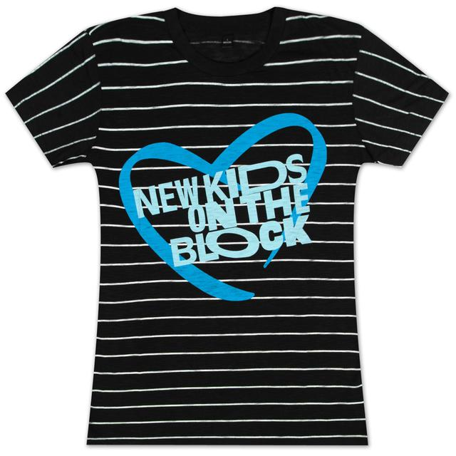 New Kids On The Block NKOTB Striped Babydoll T-Shirt