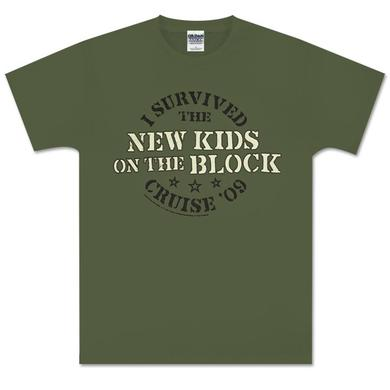 I Survived New Kids on the Block Cruise Green T-Shirt