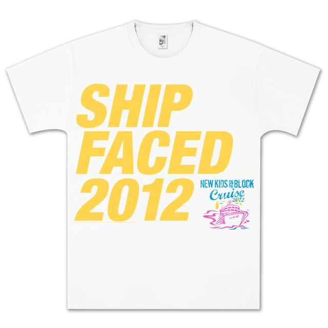 New Kids on the Block 2012 Cruise Ship Faced T-Shirt